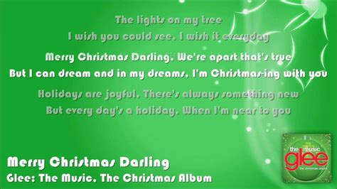 glee merry christmas darling lyrics  screen youtube