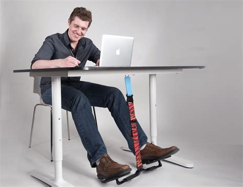 desk swing for legs hovr unconsciously burn more calories at work 187 gadget flow