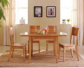 simple wooden dining room furniture sets with 4 chairs for