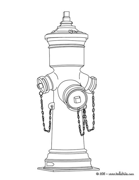 Hydrant Coloring Pages Fire Hydrant Coloring Pages Hellokids Com