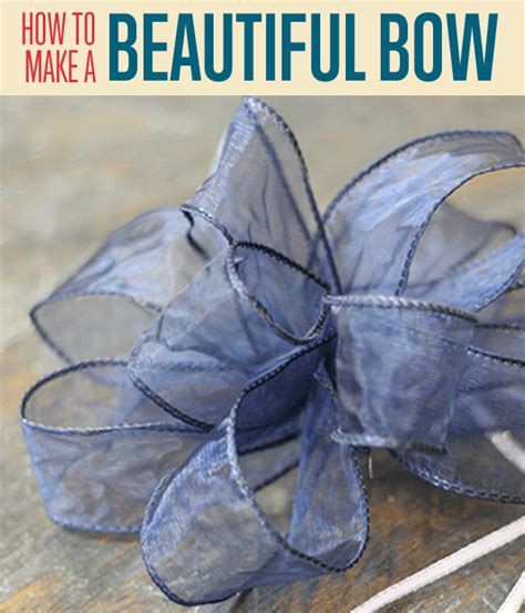 how to tie a bow how to make beautiful bows with ribbon diy projects