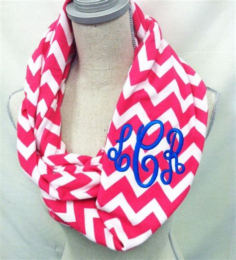 infinity scarf chevron monogrammed infinity scarf chevron scarf infiniy scarf