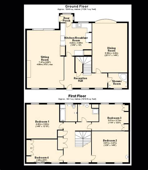 uk house floor plans 4 bedroom house for sale in kilwardby street ashby de la zouch le65 le65