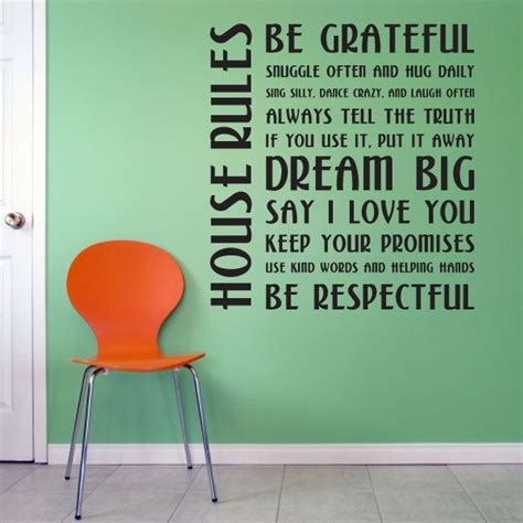 rules to buying a house house rules wall quote decal i love this i don t know when i m going to buy a home