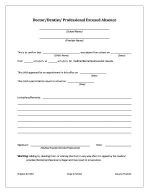 fake doctors note fill online, printable, fillable