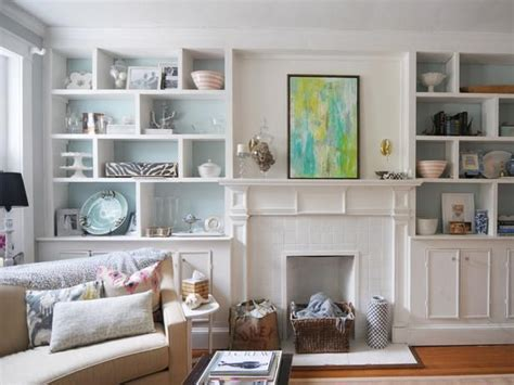 turn fireplace into bookshelf two sets of built in bookcases create a graphic grid