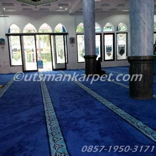 Karpet Merah Polos Per Meter harga karpet masjid hijau polos murah utsmankarpet