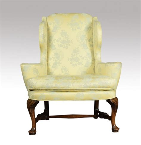 reclaimed armchair queen anne style wing armchair antiques atlas