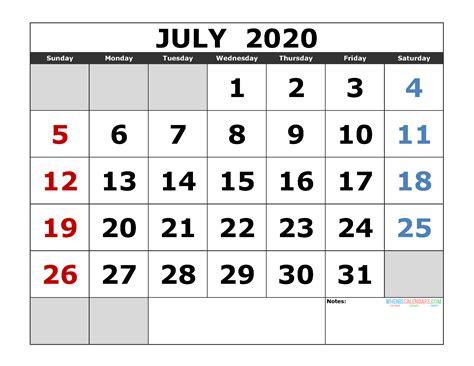 large print calendar  july   calendar printable