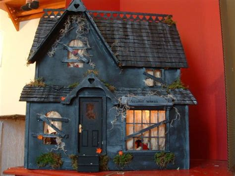 halloween doll house pin by wendi klein on miniature haunted house pinterest