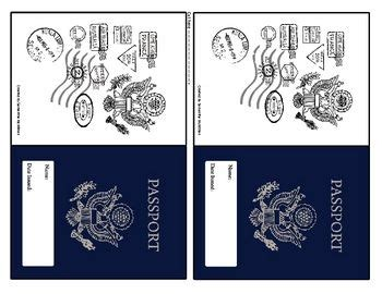 Activity Pass Card Template by World Passport Cultures Around The World Trip Ticket