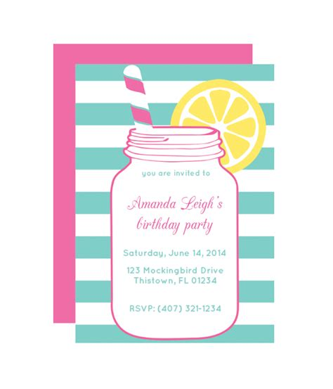 printable children s party invitations free mason jar free printable party invitation via printable