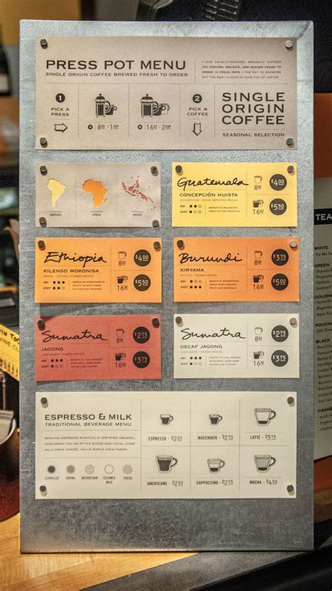 design a coffee shop menu layout from scratch with photoshop and indesign print press pot menu restaurant menu designs pinterest