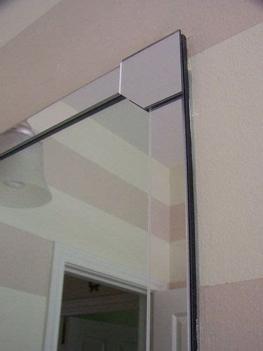 bathroom mirror bevelled edge i can do this diy beveled edge bathroom mirror for the