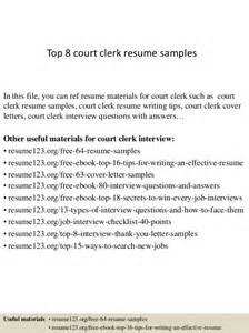 Court Administrator Cover Letter by Top 8 Court Clerk Resume Sles