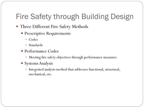 design guidelines on fire safety for buildings in malta ppt fire safety through building design powerpoint