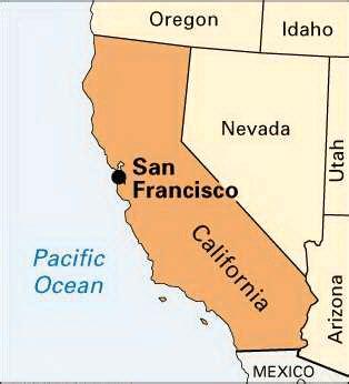 san francisco map of america maps united states map san francisco