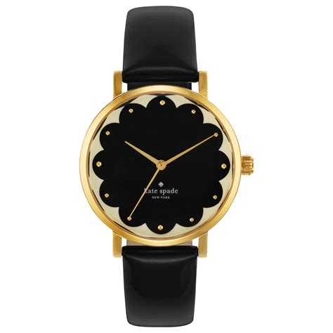 kate spade s metro black leather 34mm