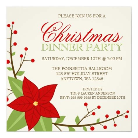 christmas dinner invitations 1600 christmas dinner