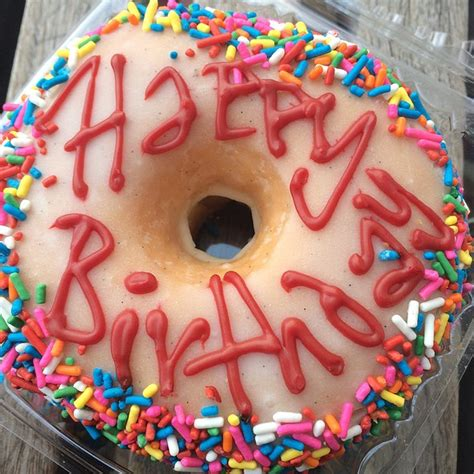 Happy Birthday Doughnuts by Glazed And Infused Menu Chicago Il Foodspotting