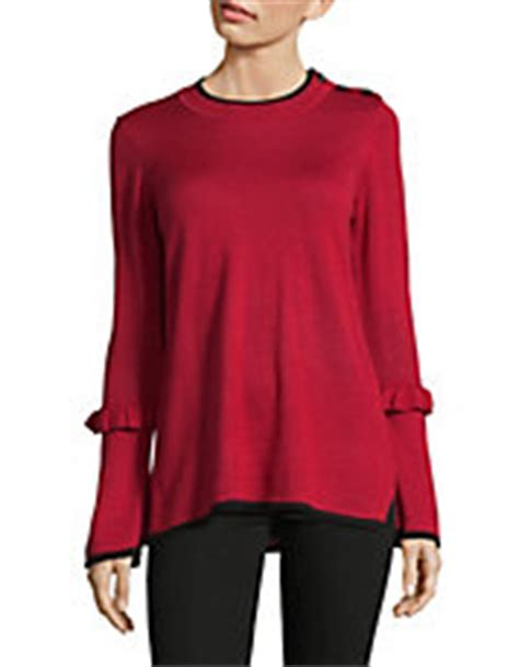 Bell Sleeve Wool Blend Knit Top tunic tops for shop tunics hudson s bay