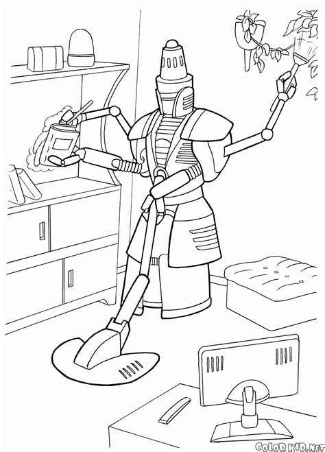 house cleaning coloring pages coloring page home cleaning robot