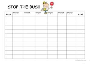 stop the bus worksheet free esl printable worksheets
