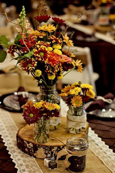 Fall centerpiece ideas for your fall wedding!
