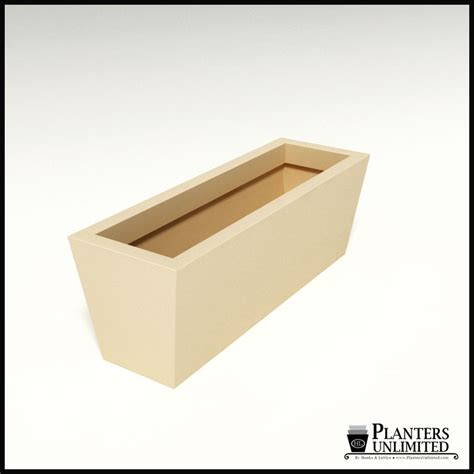 modern tapered fiberglass commercial planter 36in l x 12in