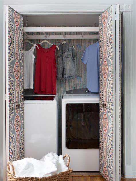 room closet laundry room closet makeover hgtv
