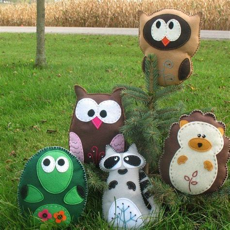 pattern for felt woodland animals woodland forest stuffed animal patterns from