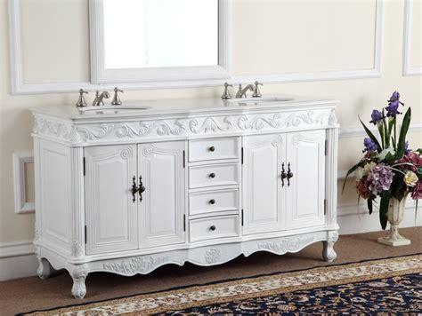 Adelina 64 Inch Antique White Double Bathroom Vanity