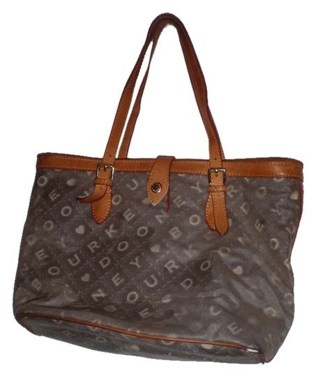 dooney bourke  handbag blue monogram tote bag