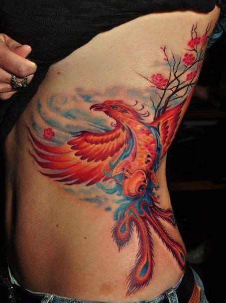 red phoenix tattoo on ribs tattoos pinterest tattoo