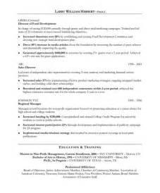 example resume sample resume non profit
