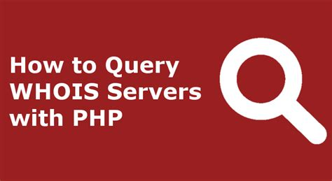 Whois Email Search How To Query Whois Servers With Php