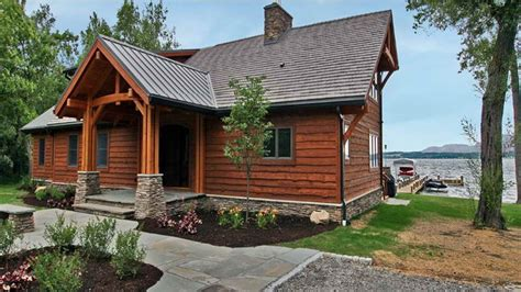 lakefront cabin plans small lakefront home plans small retirement home plans