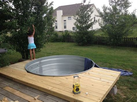 galvanized stock tank turned into a simple diy pool eco snippets