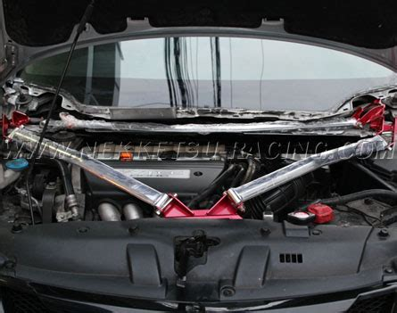Strutbar Civic Fd Civic Fb 12 Rear Lower 2points 3 ค ำหน าบน kmr strut bar civic fd