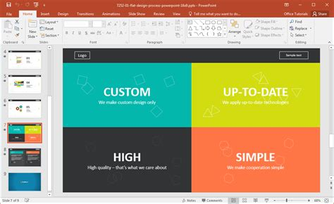 website development presentation template for powerpoint