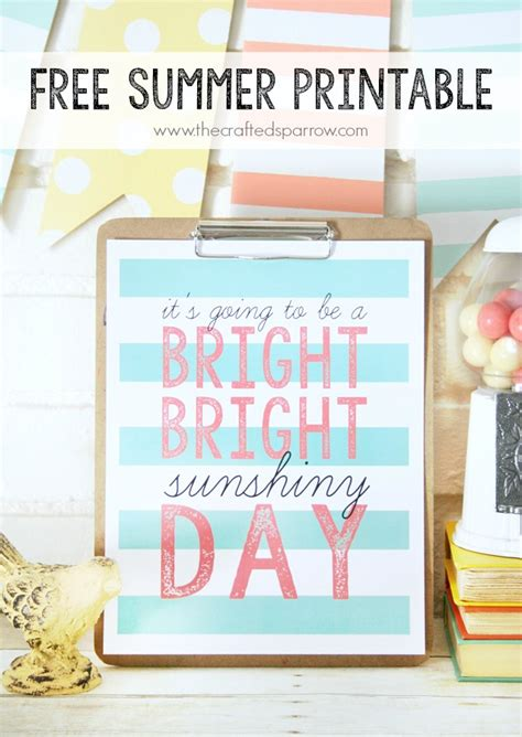 printable summer quotes summer sunshine striped printable quote printable decor