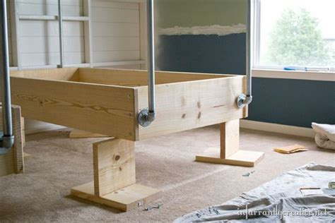 hanging bed diy industrial wood and pipe hanging beds
