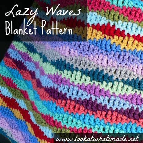 crochet wave stitch free pattern crochet stitches lazy waves blanket pattern look at what i made