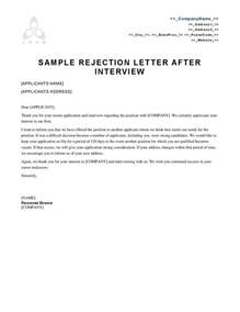 Sle Resume Rejection Letter 3 Reasons Employment Rejection Letters Sle Unsuccessful