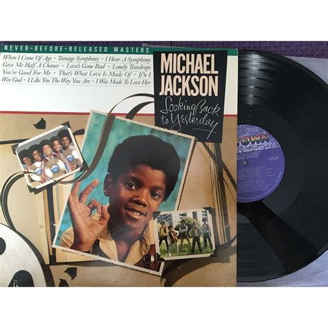 To Yesterday looking back to yesterday by michael jackson lp with