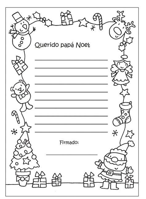 dibujos de navidad para colorear tamaño carta cartas para pap 225 noel con dibujos navide 241 os para colorear