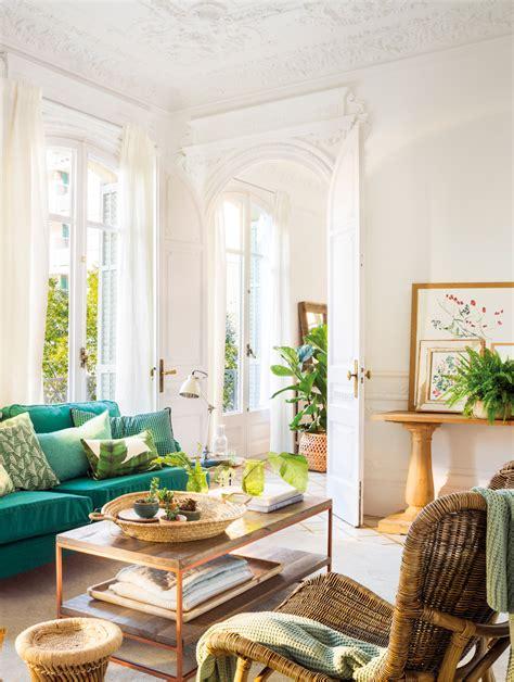 salones  toques en verde  azul