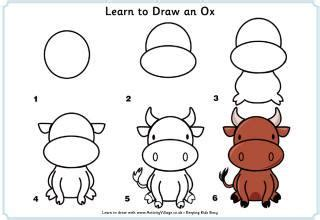 how to draw new year animals new year printables