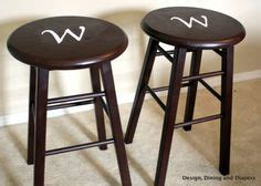 Spray Paint Bar Stools by Painted Bar Stools On