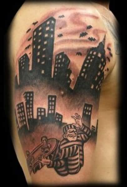 gotham tattoo nyc extreme buildings tattoo jpg 407 215 600 tattoos